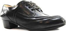 Men Dance Ballroom Leather Oxford Shoes Size 7 Black Lace Up