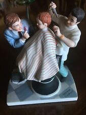 """Norman Rockwell Museum 1979 Figurine """"The First Haircut"""" Pristine Condition"""