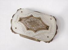 Porte-monnaie nacre métal argenté Berth Napoléon III XIXème siècle