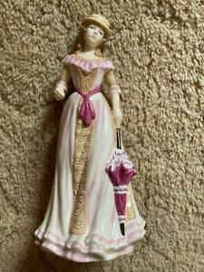 """ROYAL DOULTON,81/2""""TALL,2008,HN5322,FIGURINE,SPRING/SUMMER,MADE IN ENGLAND."""