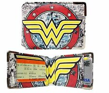 NEW OFFICIAL DC COMICS WONDER WOMAN INSIDE PRINT ID /TRAVEL CARD HOLDER (WALLET)