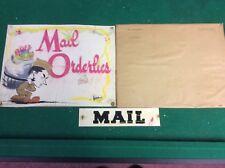 Vintage World War II cartoon art mail orderlies by Garcia