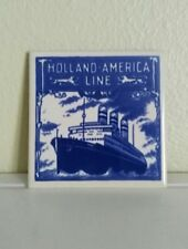 """Holland America Line Coaster Tile Signature of Excellence """"Cruise Boat"""""""