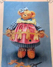 "Homespun at Heart Craft pattern Teddy Bear 12"" Tyme & dress"