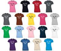 Personalised Ladies Printed T-Shirt 8-16 Customised Workwear Hen Do Funny Top