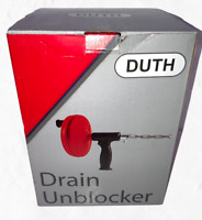 Drain Auger, Duth Plumbing Snake, 25 Feet Heavy Duty Professional Clog Remover