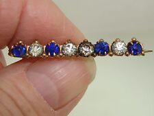 Antique Victorian Faux Sapphire & Brilliants Bar Pin!