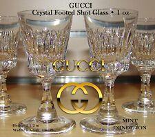 Gucci Crystal Footed Shot Glass MINT - RARE Holiday Gift Barware Set of 4