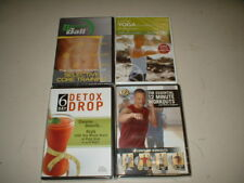 4 dvd lot - excercise and fitness , yoga ,  abs , diet (new SEALED )