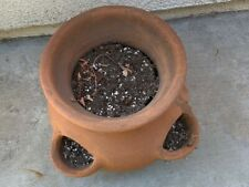New Listingclay pot for gardening (ideal for strawberries or other small plants)