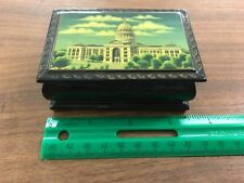 Very lightweight jewel box with hinged lid.  Capital building picture on top.