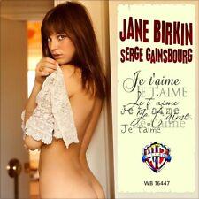 "7"" JANE BIRKIN Je t'aime moi non plus WARNER-BROS 16447 Nur Cover! (Only Sleeve)"