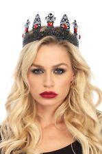 Brand New Renaissance Medieval Queen Metal Filigree Royal Crown