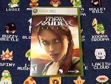 Lara Croft: Tomb Raider Legend EXCELLENT CONDITION  (Xbox 360, 2006)