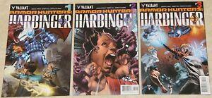 ARMOR HUNTERS HARBINGER (2014) Set #1 - 3 NM (Valiant Comics) !!