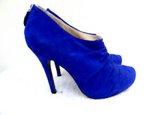 Faith Calipso Cobalt Electric Blue Faux Suede stiletto ankle Boot Heels 6 - 39