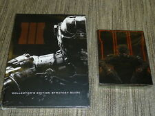 CALL OF DUTY BLACK OPS III 3 Game Steelbook COLLECTORS GUIDE XBOX ONE BRAND NEW!