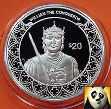 1997 Liberia $20 dólares mayor Guillermo el Conquistador moneda de plata prueba