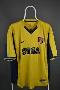 ARSENAL 1999/2001 AWAY FOOTBALL SHIRT JERSEY VINTAGE NIKE XL RETRO (SEGA)