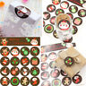 Christmas Oval Seal Stickers Labels for Gift Wrap, Envelopes, Bags,Cards NEW