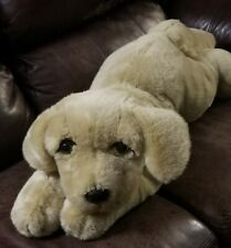 "36"" Aurora Lying Down Plush Dog Stuffed Animal"