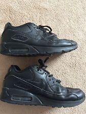 Nike Air Max Black Men's Boy's Baskets Décontractées Taille 5, UK, 38 Europe