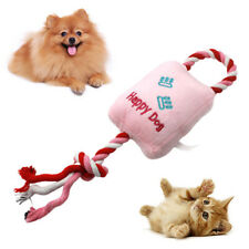 CW_ US Pet Dogs Cats Puppy Cotton Rope Paws Plush Doll Squeaky Molar Chew Play T