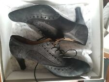 NEW - Ankle boots, black, suede leather, UK size 8 - EUR 42 (fit quite small!)