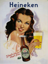 Vintage Heineken beer advertisement poster reproduction metal sign bar decor