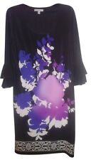 Sandra Darren Elegant Artistic Dress - Black/Purple/Lavendar, Size 12