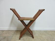 Vintage Campaign X Base Folding Desk Chair Stool End Table Mid Century A