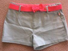 Billieblush girls pale blue shorts with hot pink bow adjustable belt - size 12
