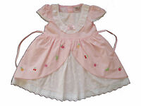New Baby Cotton Party Dress in Pink,Yellow,White&Pink From 3-6 to 12-18 Months