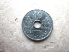 10 centimes zinc Etat français petit module 1943 TB