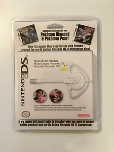 Nintendo DS or DS Lite Headset - Proprietary Ear-hook White (2008) New Sealed