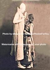 Old/Vintage 1908 Theater Weird/Strange/Creepy Tall Slender Man Costume Photo