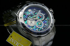 Invicta Pro Diver Scuba Special Edition 1.Blue Abalone Dial Chrono S.S Watch NEW