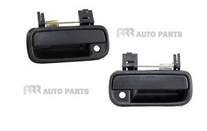 FOR TOYOTA HILUX 2/4WD 08/97-1/05 FRONT OUTER DOOR HANDLE BLACK - PAIR (LH + RH)