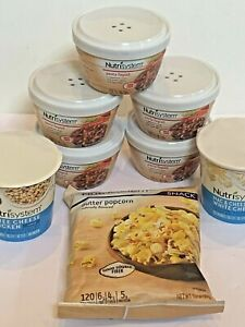 NutriSystem Food Lot Dinner Lunch Snack Lot Pasta Fagioli Popcorn Mac Cheese