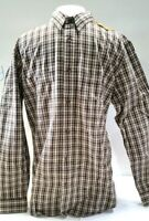 FILSON Men's Wildwood Shirt BEIGE/ RUST/ BLACK PLAID size M
