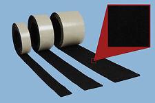 Filzband,  Meterware, 20 mm breit, 3 mm stark, schwarz, selbstklebender Filz
