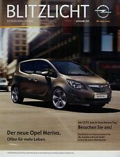 Opel Meriva Prospekt Blitzlicht 1/10 Broschüre 2010 Autoprospekt brochure