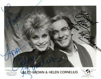 JIM ED BROWN AND HELEN CORNELIUS SIGNED AUTOGRAPH 8x10 SIGNED PRESS PHOTO