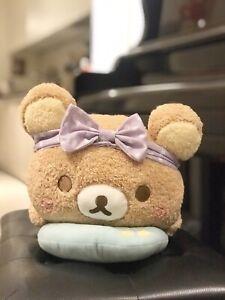NEW San-X Rilakkuma Pajama Party Lying Down Soft Plush 35cm Laying Japan Fluffy
