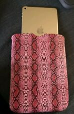 Sleeve cover for tablet Pink Faux Snake Skin Device protector Office