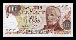 B-D-M Argentina 1000 Pesos José de San Martin 1979 Pick 304b(2) Serie E SC UNC