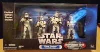 Star Wars CLONE TROOPER Troop Builder 4-Pack Entertainment Earth - Complete Set!
