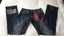 NWT  Christian Audigier Cary Spiderbaby Denim Jeans  Sz. 28W x 34L  NEW $205