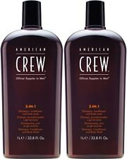 American Crew 3-in-1 Shampoo, Conditioner and Body Wash 33.8oz (Pack of 2) NEW!