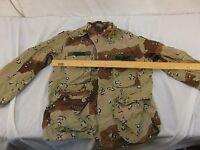 Vintage Desert Chocolate Chip Camouflage Combat Coat JACKET TOP Medium-Short